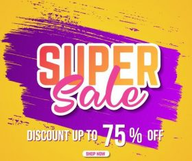 Sale special offer discount poster vector template 04