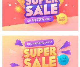 Sale special offer discount poster vector template 05