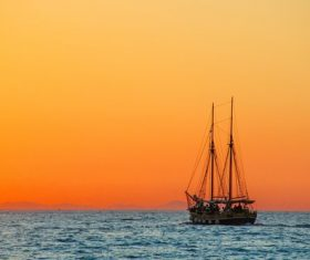 Sea Sailing Vessel Stock Photo
