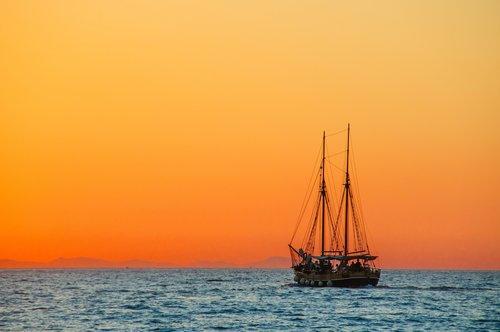 Sea Sailing Vessel Stock Photo