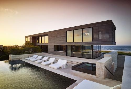 Sea view villa Stock Photo