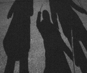Shadows on the ground Stock Photo 02