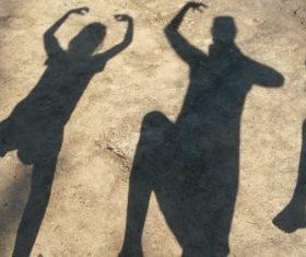 Shadows on the ground Stock Photo 04