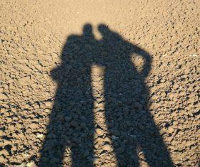 Shadows on the ground Stock Photo 08