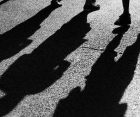 Shadows on the ground Stock Photo 10