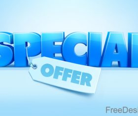 Shiny special offer design with tag vector