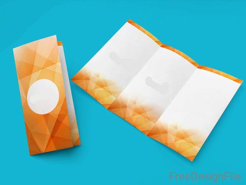 Simple Tri Fold Brochure PSD Template