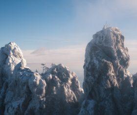 Snowy peaks Stock Photo