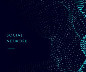 Social network abstract background vector