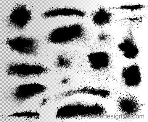 Splash ink brush illustration vectors 02