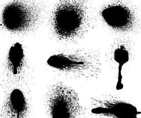Splash ink brush illustration vectors 03