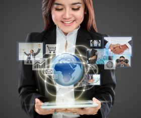 Stock Photo Virtual reality 3D glasses IT entertainment technology 01