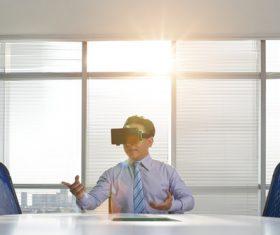 Stock Photo Virtual reality 3D glasses IT entertainment technology 04
