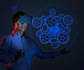 Stock Photo Virtual reality 3D glasses IT entertainment technology 05