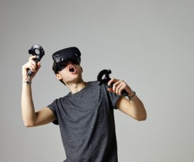 Stock Photo Virtual reality 3D glasses IT entertainment technology 07