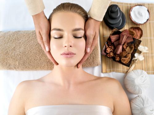 Stock Photo Woman having massage in the spa salon 01