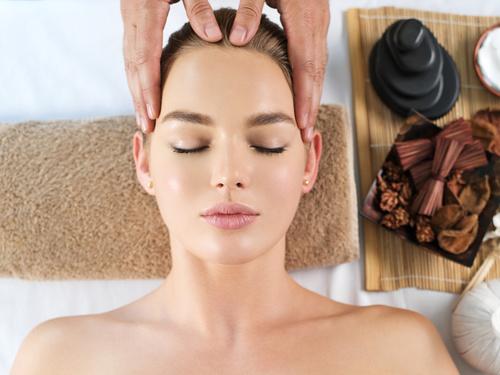 Stock Photo Woman having massage in the spa salon 02