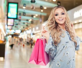 Stock Photo Woman shopping at the mall 01