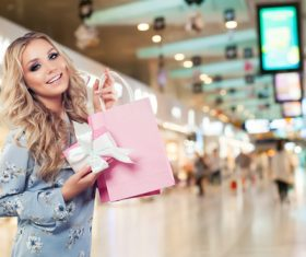 Stock Photo Woman shopping at the mall 02
