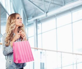 Stock Photo Woman shopping at the mall 10