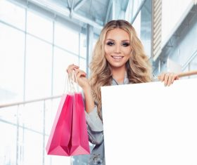 Stock Photo Woman shopping at the mall 12