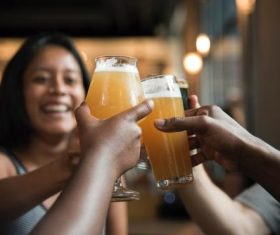 Stock Photo Women drinking beer chat 05