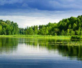 Stock Photo Woods lake nature landscape 02