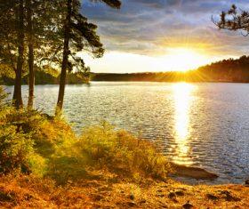 Stock Photo Woods lake nature landscape 03