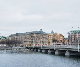 Street view of Stockholm Sweden Stock Photo 08