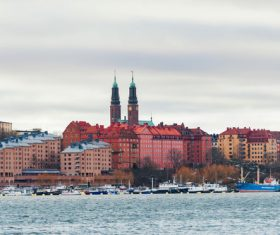 Street view of Stockholm Sweden Stock Photo 10