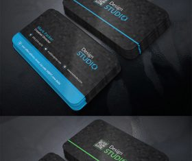 Studio Business Card Design PSD Template
