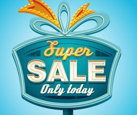 Super sale billboard design vector