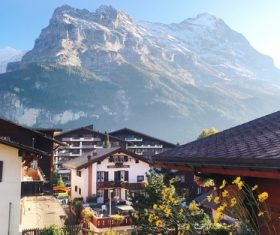 Switzerlands beautiful town Grindelwald Stock Photo 02