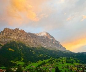 Switzerlands beautiful town Grindelwald Stock Photo 07