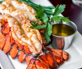 Tasty and refreshing big lobster Stock Photo