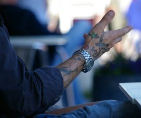 Tattooed person Stock Photo 03