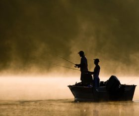 Two fishing men Stock Photo