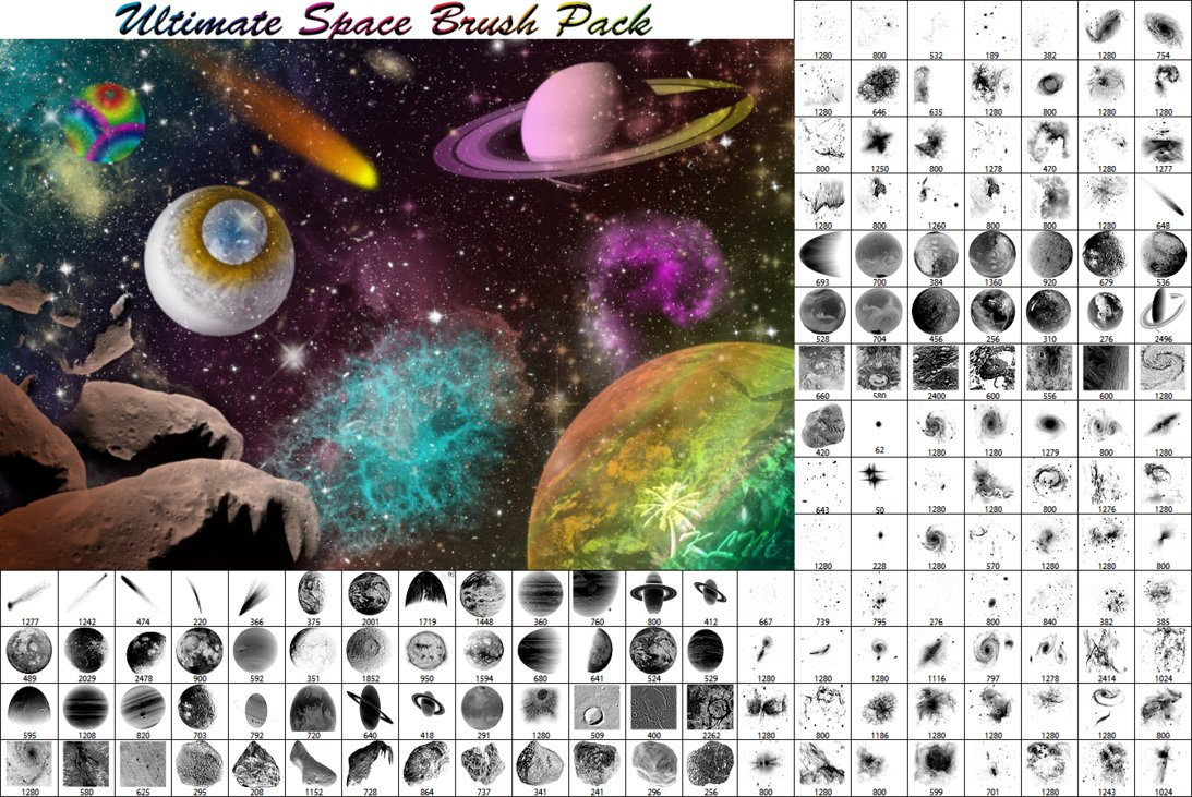 Ultimate Space Photoshop Brushes