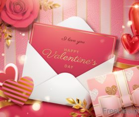 Valentines card creative design vector