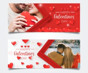 Valentines day banners tamplate illustration vector