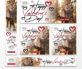 Valentines day card tamplate vector kit 01