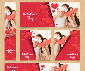 Valentines day card tamplate vector kit 03