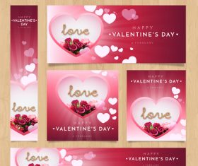 Valentines day card tamplate vector kit 04