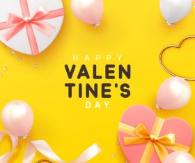 Valentines day card yellow vector