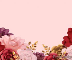 Valentines day flower background design vector 02