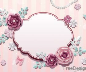 Valentines day flower background design vector 04