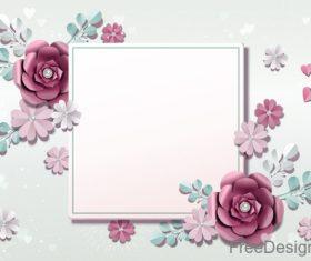 Valentines day flower background design vector 05