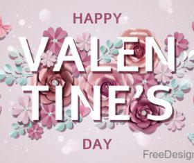 Valentines day flower background design vector 06