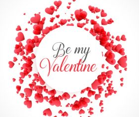 Valentines day heart frame vectors material