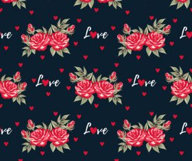 Valentines day love pattern seamless vectors 01